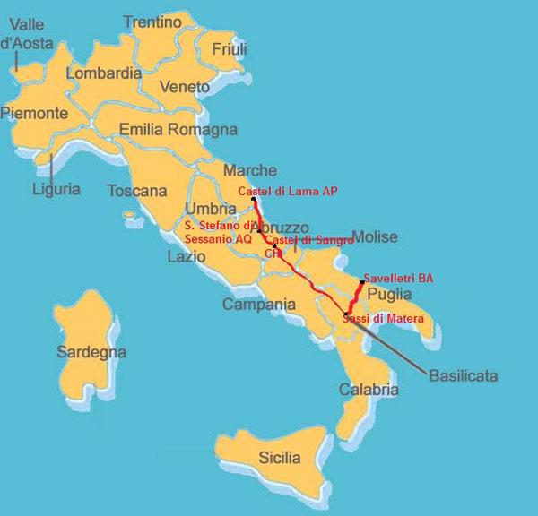 Cartina Puglia Alberobello.100 Torri Di Ascoli Trulli Di Alberobello E Sassi Di Matera