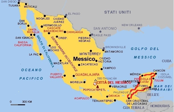 Cartina Yucatan E Chiapas.Tour Operator Online Easyweek It