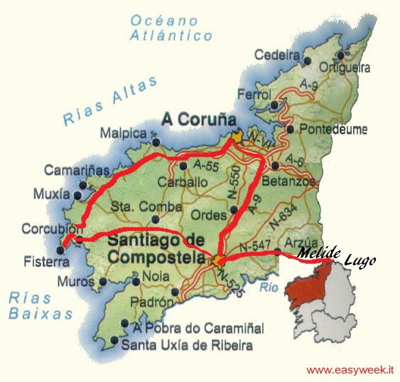 Spagna Galizia Cartina.Pasqua Spagna Galizia Santiago De Compostela Tour Easyweeks